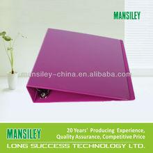 Mansiley good selling embossed ring binder with logo
