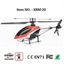 Radio control helicopter toy single blade 4 channel storm rc helicopter