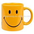 أكواب السيراميك المزجج صفراء الوجوه المبتسمة