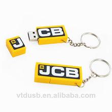 Promotion gift usb flash drive custom pvc usb stick simple usb drive with keychain