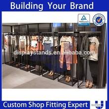 High-ending clothing shop design clothes display shelf brackets