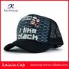 Wholesale Custom Printed Trucker Cap Cheap Snapback Trucker Cap Hat Black Blank Flat Bill Trucker Cap