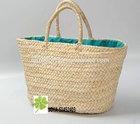 Natural corn husk straw beach bag