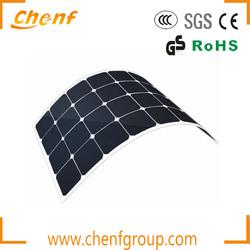 Sunpower Semi Flexible Solar Panel 130w,Marine Flexible Solar Panel For RV Yacht
