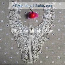 2014 new hand cut designs cotton collar lace/ fashion lace collar
