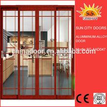 Balcony glass fixed double sliding door SC-AAD047