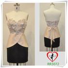RR3072 Hot selling chiffon appliquelace back flower girl dress