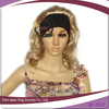 blond party woman wig with black headband