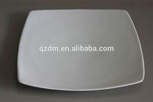 White Melamine Square Plate/Square Shape Melamine Dessert Dish