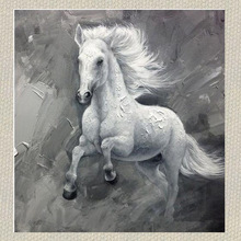Wild Abstract Animal Oil Painting Of Horse