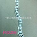 Diamantes de imitación de la perla y cinturones, diamantes de imitación de la perla y apliques de adorno
