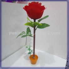 plastic twist ball point pen with petals catalog silk flowers (AM-F-83-04)