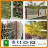Folded iron fence/ white plastic fencing mesh