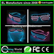 el glasses/el wire glasses/Purple EL glasses ,high brightness with portable 2-AA battery inverter