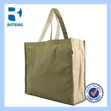 Reusable and durable ECO cotton grocery shopping bag,tote shopping bag