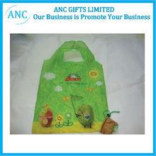waterproof logo printed foldable shopping bag polyester