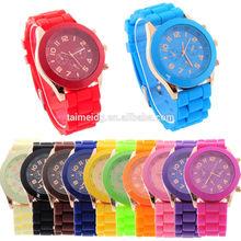 new silicone geneva watch& lady watch