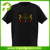 Sound active equalizer v-neck type led t-shirt wholesale