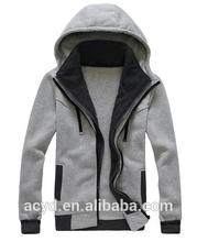 Men's gray and soft fleece zip hoodies