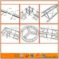 interior del tubo de aluminio armadura circular trussing sistema de techo de la estructura de celosía