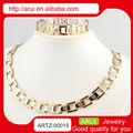 Joyería de oro de la joyería de venta al por mayor de las para mujer del alibaba artificial de la joyería