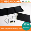 tiny solar charger laptop bags with lithium ion solar generator battery 30W Power Emergency Foldable Solar Charger