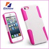New net Mesh case Plastic&Silicone Cell Phone Case For iphone 5C case
