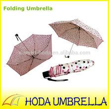 Black dots print tiny small size girls pancel umbrella