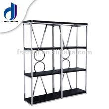 Modern design Stainless steel book rack cabinet (K-19)