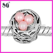 Silver Jewelry wholesale antique 925 sterling silver nest egg charm beads_wholesale charm beads for charm bracelet