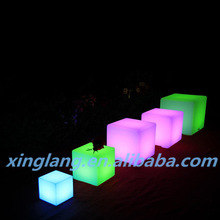 rechargeable LED cube lighting furniture/ LED coffee Cube Table