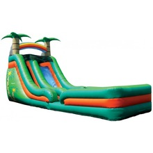 Super Splash Down Tropical inflatable slide with Landing/inflatable water slides/inflatable pool slide