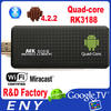 Android mini pc tv dongle rk3188 quad-core Android Jelly Bean 2GB/8GB Bluetooth MK809III android tv hdmi stick ethernet