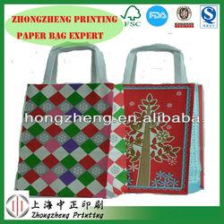 Shanghai elegant eco-friendly paper bag,Standard FDA, FSC gift bag,flat shopping paper bag wholesale
