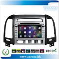 Tela de toque capacitivo de áudio do carro para hyundai santa fe 2012 puro android 4.0 sistema multimídia carro player gps mapa 4gb cartão de presente!