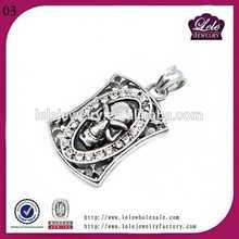 2012 latest stainless steel skull pendant