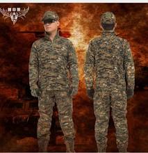 Genuino uniforme de entrenamiento camuflaje traje de camuflaje digital pilotos parachuted verano exterior traje de entrenamiento