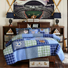 Applique Ball Boy Kids Bedding Set