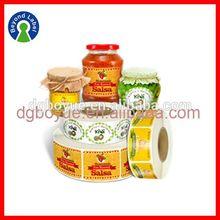 Printing Custom Adhesive Printed Waterproof Logo Labels ,Organic Natural Canned Food Label Sticker