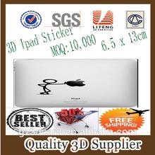 Guangzhou Lifeng 2014, Custom 3D Lenticular Sticker Protective PAD Case, Custom 3D Lenticular Sticker For IPAD