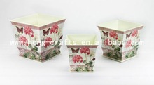 2014 New Design Colorful Fashion Style Professional Cheap Handmade Metal flower pot/Buckets With Handles