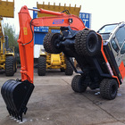 Chinese excavation hand tools 6ton Wheel Hydraulic Mini Excavator Prices