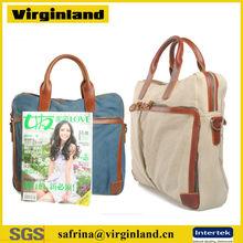 2014 new fashion 14 inch laptop handbag two laptop bag men shoulder laptop bag with long strap