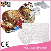 sublimation blank jigsaw puzzle ,customize printing , BLANK DIY adult paper jigsaw puzzle mat for Souvenir
