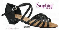 Black citi trends SHOES wholesale china children salsa shoes 510