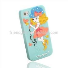 DG Walmart Audited Custom Silicone Cartoon cute girl Silicone phone Case