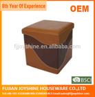PU Leather Square Folding Storag Stool/Storage Seat/Storage ottoman