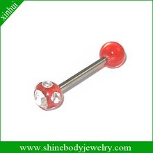 2014 uv tongue piercing jewelry