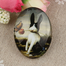 Wholesale oval glass photo cabochons image glass cover for pendant