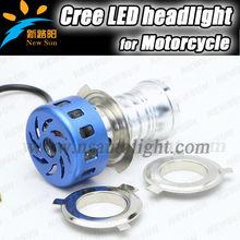 Pure white 6000k c ree led fog light motorcycle headlight has fan high beam 20w low beam 8w strobe light bulb dc12v
